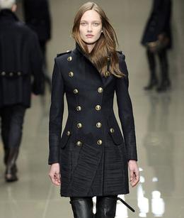 abrigo militar mujer Burberry Prorsum
