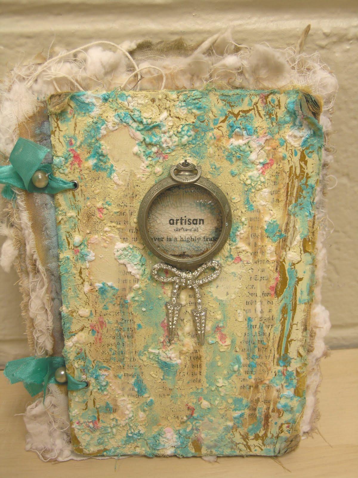 vintiquities  artisan fabric art journal