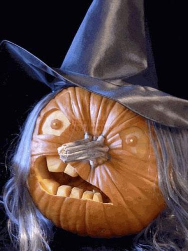 Pumpkin carving ideas for halloween 2017 more cool funny - Caras de brujas ...