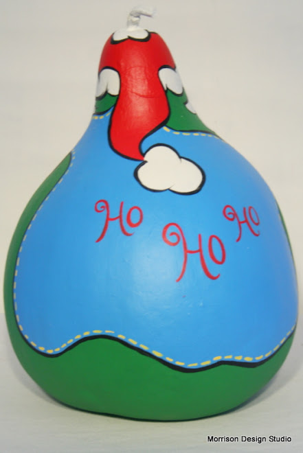 Back of Santa with Toy Bag Gourd
