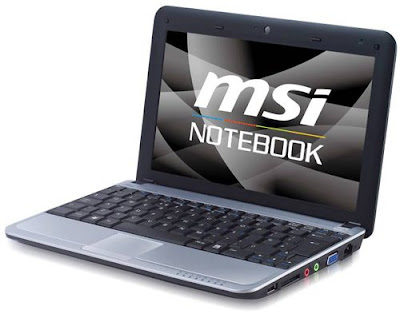 MSI Finally Reveals The World's First Hybrid Storage Netbook- MSI U115 Hybrid