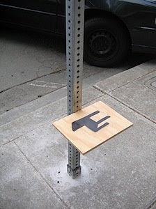 Street Sign Chair