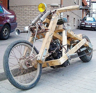 A Bike That You Can Forget - Wooden Motorbike