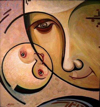 "Iulian Mîţa - ""Maternitate"", 2009, 85x80 cm"