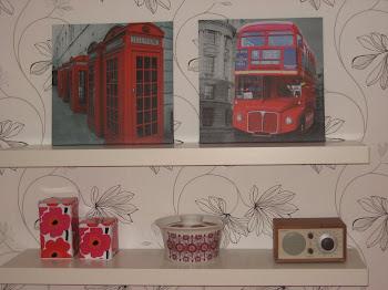 Londonbilder på kjøkkenet