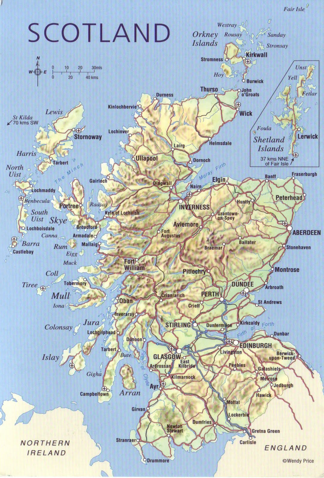 The World in Postcards Sabine 39 s Blog Scotland Map May 12 2010