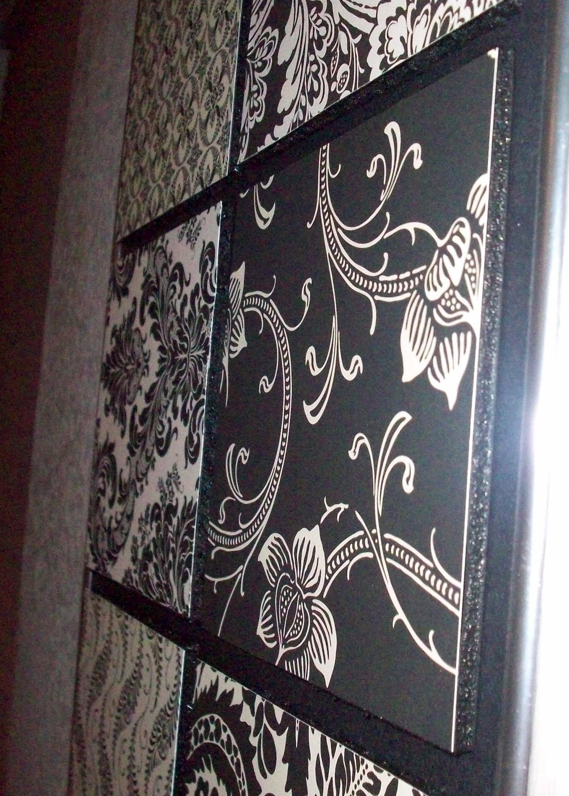 scrapbook paper 3d wall art. Black Bedroom Furniture Sets. Home Design Ideas