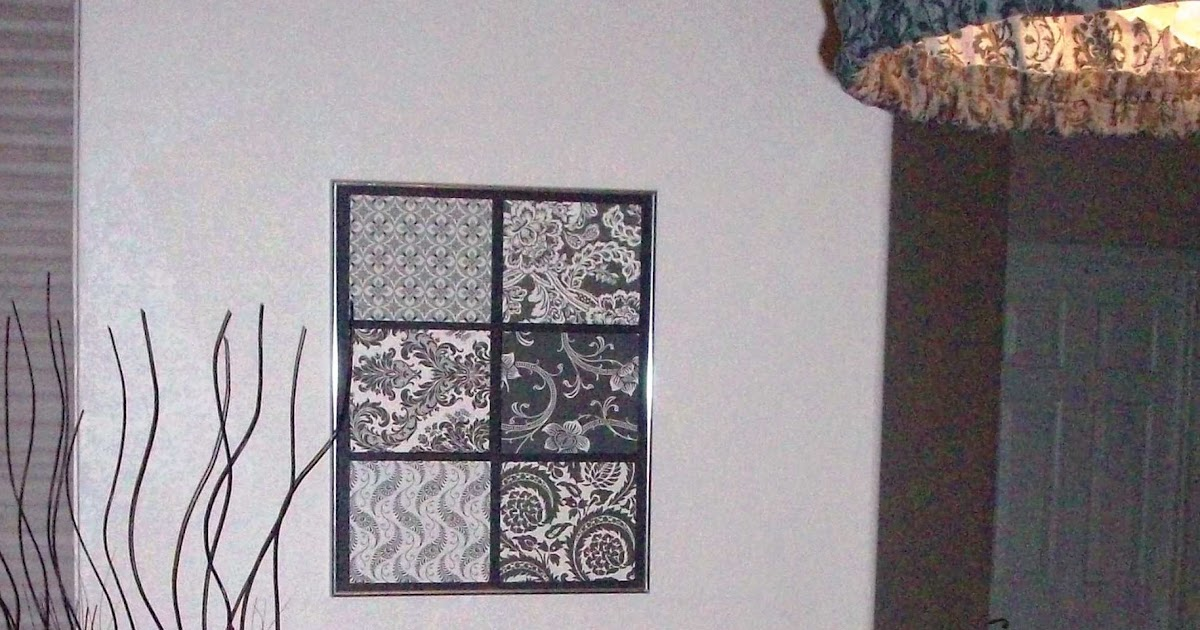 Scrapbook paper 3D wall art