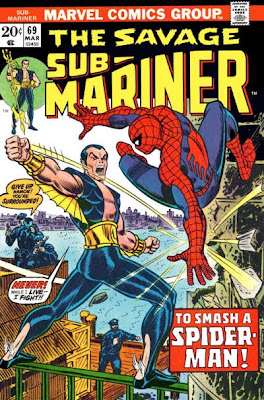 Savage Sub-Mariner #69, Sub-Mariner meets Spider-Man