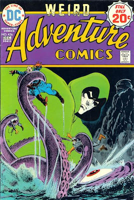 Weird Adventure comics #436, the Spectre looms over a giant squid as it kills a nazi field marshal and his men, Jim Aparo, my favourite comic book cover of all time
