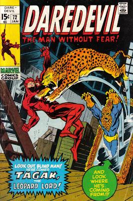 Daredevil #72, Gene Colan, Tagak the Leopard Man