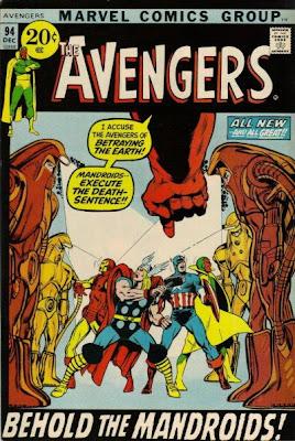 Avengers #94 Kree Skrull War Neal Adams Mandroids