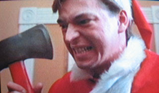 Ricky Caldwell, Billy Chapman's brother, shows his Axe-Mas spirit in the first sequel.