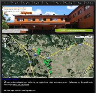 Hotels en appartementen op de landkaart