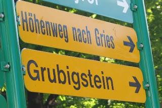 Wegwijzer richting Grubigstein