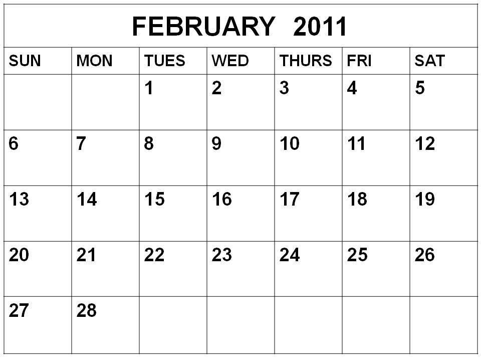 english tutoring  february calendar 2011
