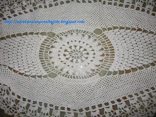 Centros de mesa - Centro de mesa a crochet ovalado ...