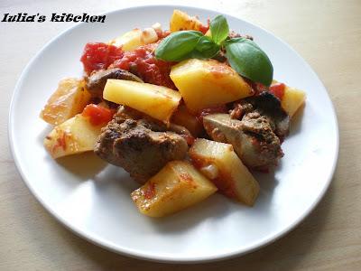 Articole culinare : Ficatei cu cartofi la cuptor