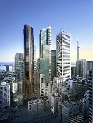 Edificios modernos de la Ciudad de Toronto