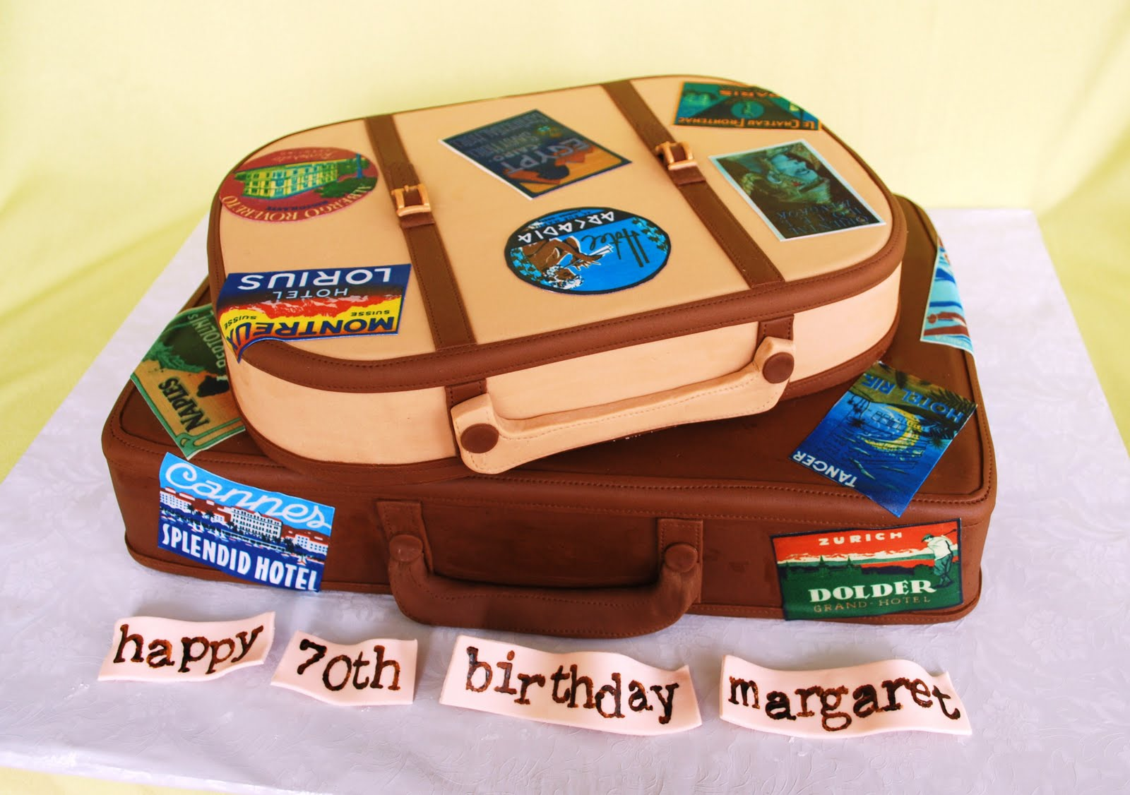 The Beehive Travel Suitcase Cake