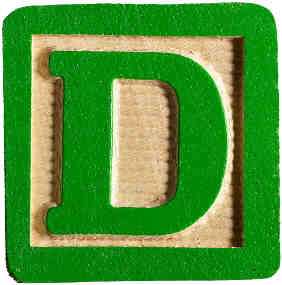 Wooden Alphabet Letter Beads