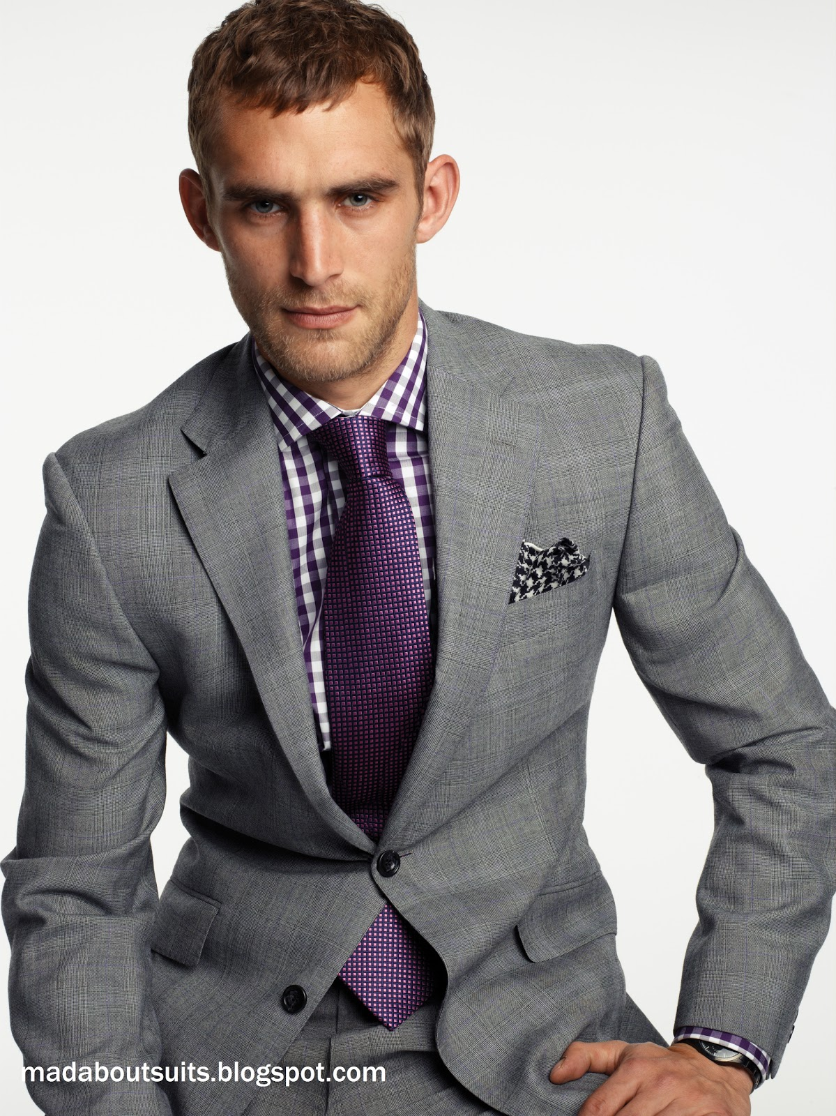 Grey Tux Purple Tie The Men Of The Wedding Pinterest