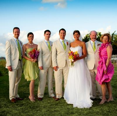 When it comes to your bridal party bring in lots of color