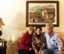"""Fresco titled """"Italian Hillside"""""""