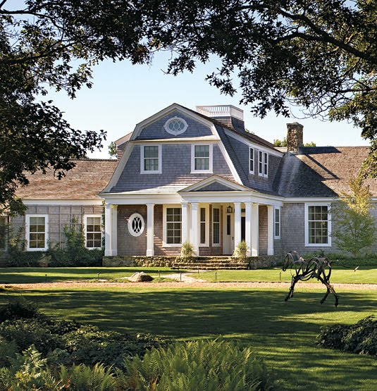 Reckless bliss hamptons shingle style homes for Gambrel gable