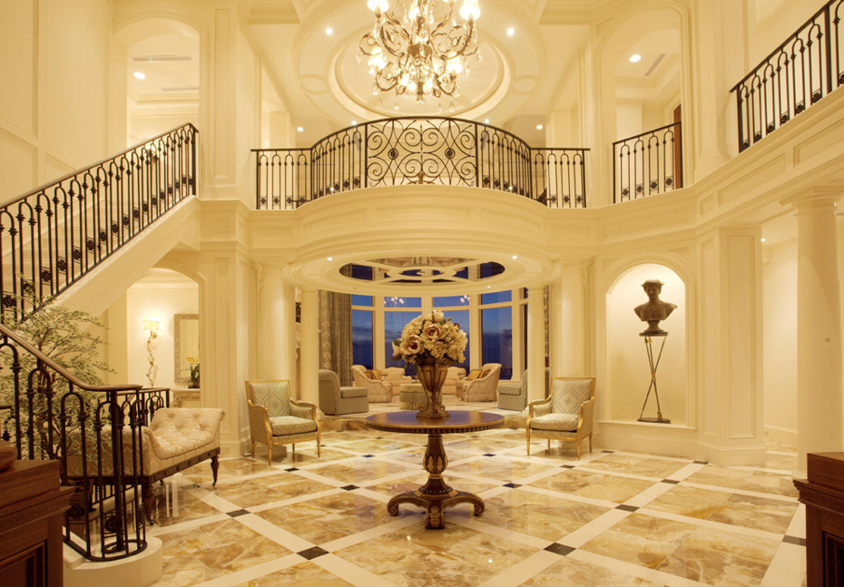 Luxury stairs on pinterest luxury staircase stairs and for Mansion foyer designs