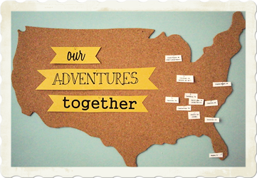 making artwork my travel map craft project
