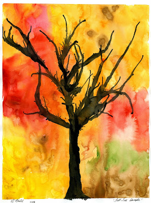 That artist woman how to paint fall trees for Autumn tree painting