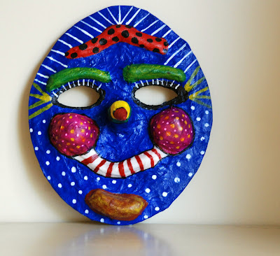 making paper mache masks masquerade