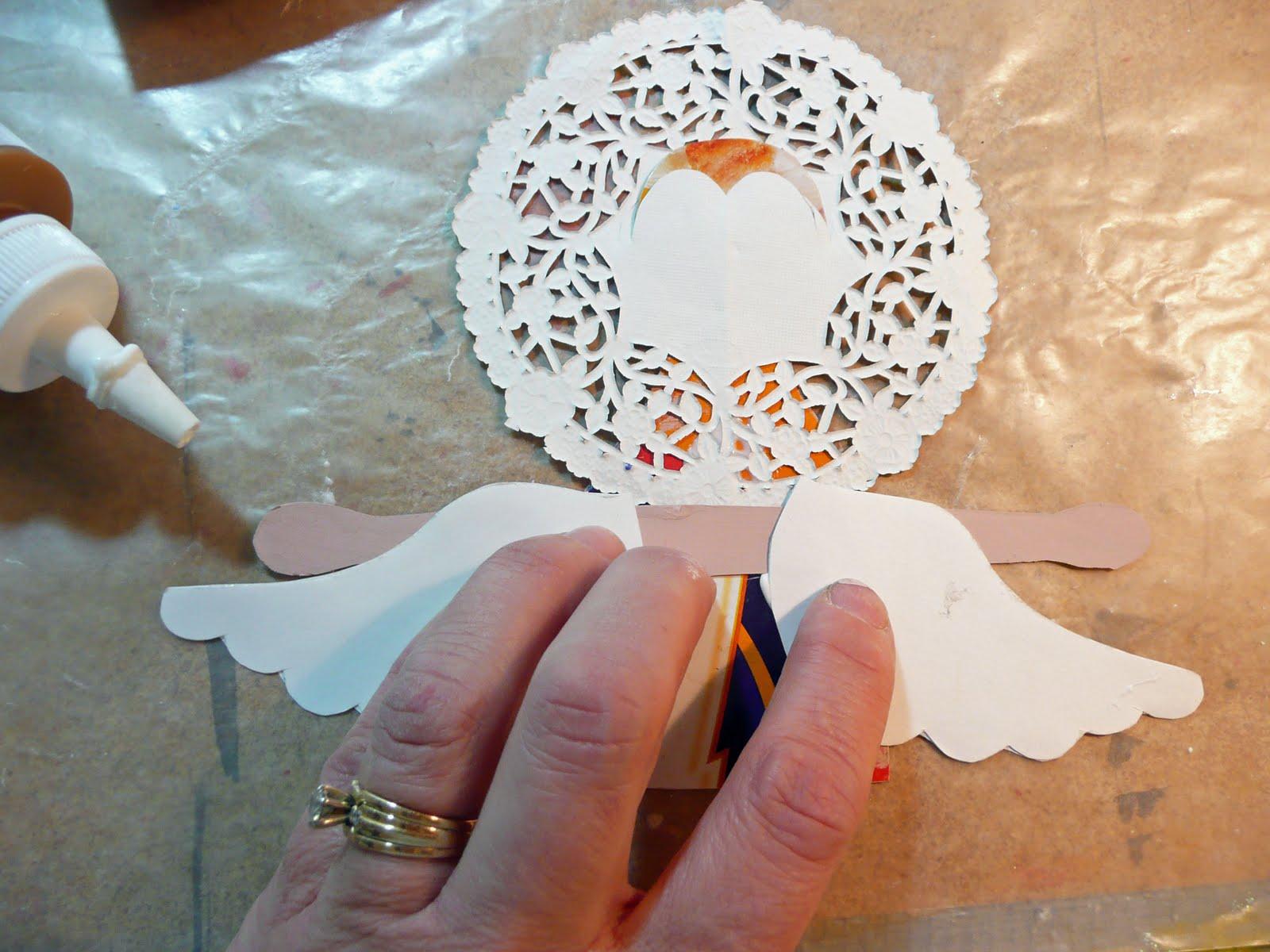 Поделки с бумаги ангелов