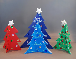 Simple cardboard Christmas trees