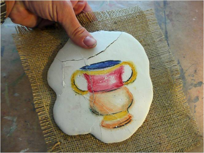That artist woman how to make plaster frescoes for Plaster crafts to paint