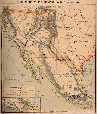 25 marzo declara guerra entre mexico estado unidos 1846: