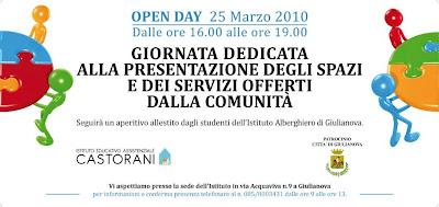 Giulianova. Istituto Educativo Assistenziale Castorani di Giulianova, 25 Marzo dalle ore 16,00. OPEN DAY ALL'ISTITUTO CASTORANI