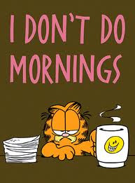 Mornings: Waking me up is the worst thing you can do in your life