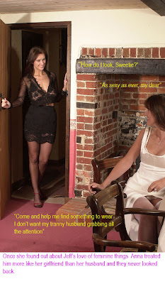 Titillating TG captions: Crossdressing; Happliy married
