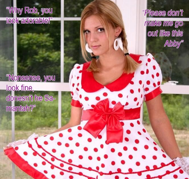 Titillating TG captions: Forced feminization for a naughty boy