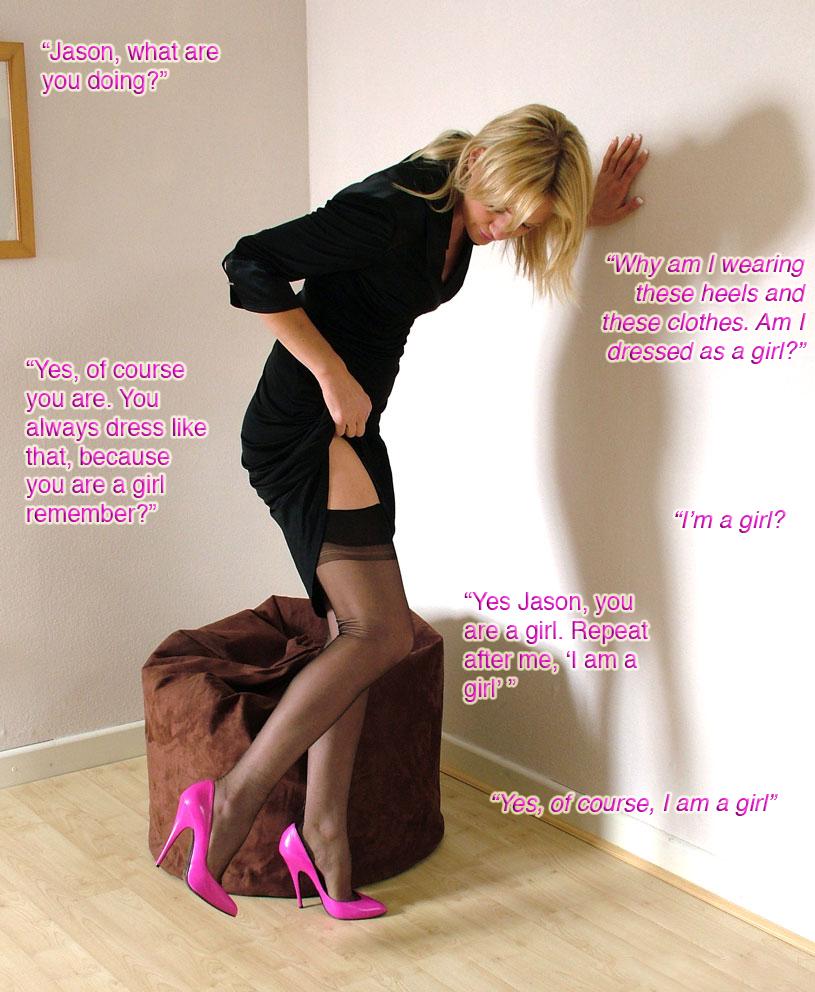 Forced Feminization Captions Blog http://captioned-images.blogspot.com/2011/01/forced-feminization-at-home.html