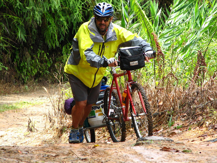 Biking in Borneo