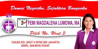FEMI MAGDALENA LUMOWA, Caleg PDS, Calon Legislatif, Kampanye Pemilu 2009