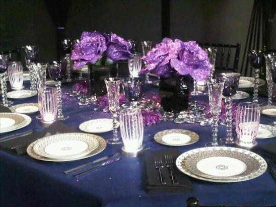pretty and glittery purple table top by Eric Warner for Aesthete