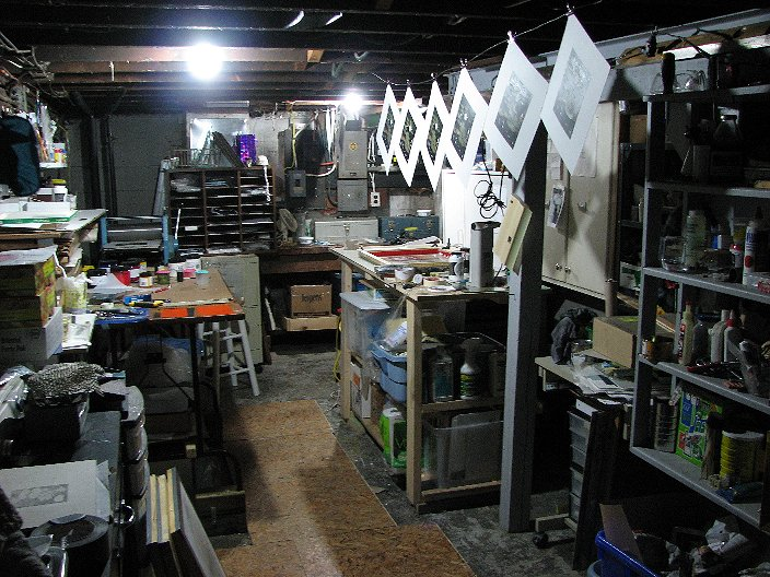 my printmaking journey: Home art studio solutions for small spaces