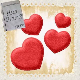 Valentine's Day Felt Heart Cluster 3 Embellishment (CU OK) {Memories Made Easy} HeartCluster3_Vday_2010_PREVIEW