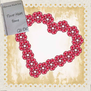 Valentine's Day Flower Heart Frames  (CU OK) {Memories Made Easy} FlowerHeartFrame_PREVIEW