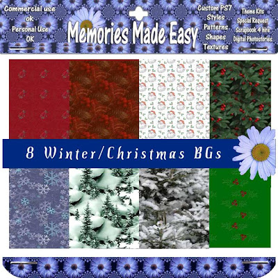 Christmas Backgrounds MME_8XmasBG_PREVIEW