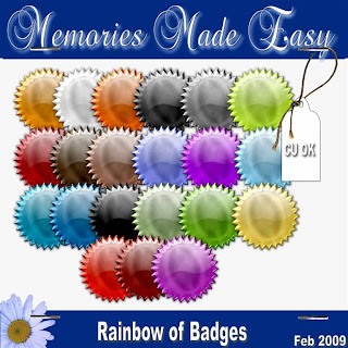 Rainbow of badges & brads MME_Embellishments_Badges-Brads_PREVIEW